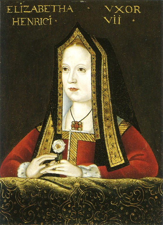 Portrait of Elizabeth of York, now at the National Portrait Gallery