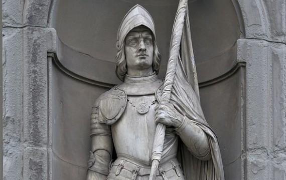 Statue ofe Francesco Ferrucci (1489-1530), Florentine condottiere