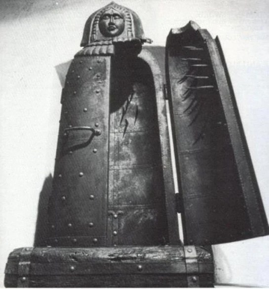 The Iron Maiden of Nuremberg - this artefact was destroyed during the Second World War, but by then historians knew it was a fake.
