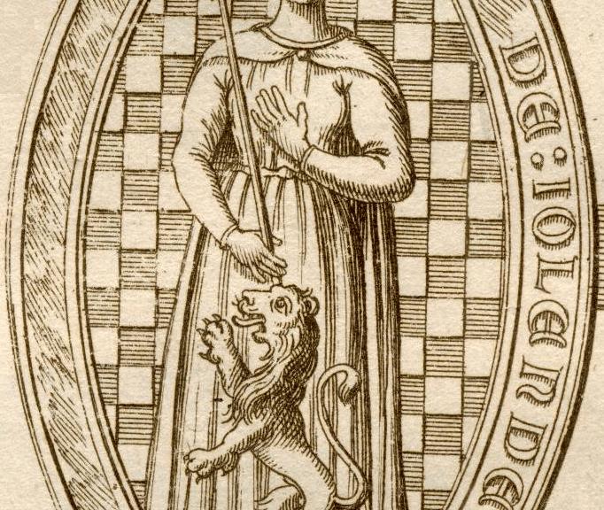Yolande de Dreux, Queen of Scotland. Sceau de Yolande d'Ecosse - Duchesse de Bretagne (Wikipedia)