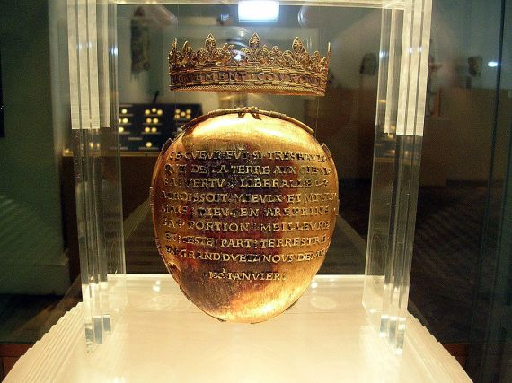 Reliquary of Anne of Brittany's heart. (Dobrée Museum, Nantes, France). (Wikipedia).