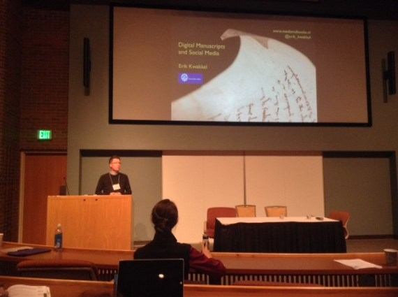 Erik Kwakkel speaking at this year's International Congress on Medieval Studies