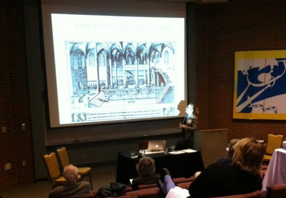 Vadstena project photos: Michelle Urberg describes research behind the virtual reconstruction of Vadstena Abbey in Sweden - photo by Danielle Trynoski