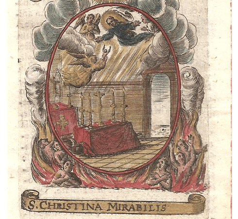 Christina the Astonishing from 1630 Fasti Mariani calendar of saints Image by Patrick3Lopez
