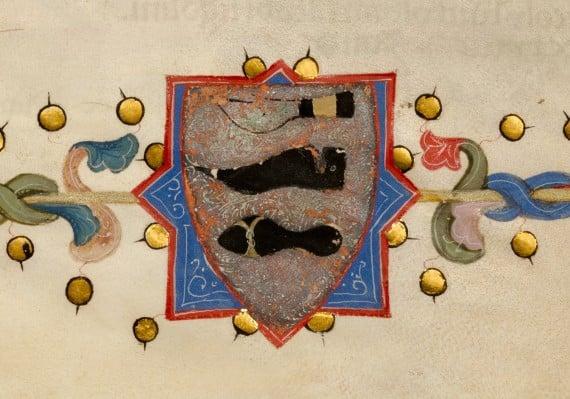 Detail from list of shoemakers by Niccolò di Giacomo da Bologna