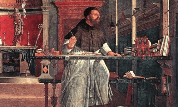 St. Augustine in His Study by Vittore Carpaccio, 1502