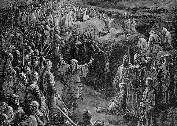 Priests Exhorting Crusaders by Gustave Doré