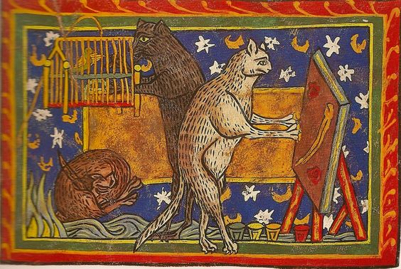 three-medieval-cats