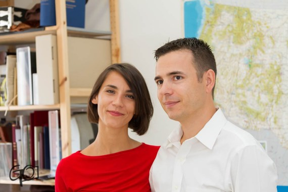 Giovanni and Giulia, the founders of Facsimile Finder