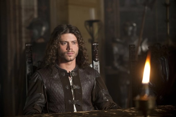 François Arnaud as Cesare Borgia in the ShowTime series, The Borgias.