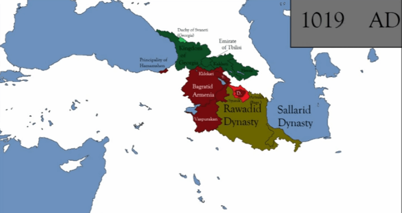 How the borders of the Caucasus changed in the Middle Ages