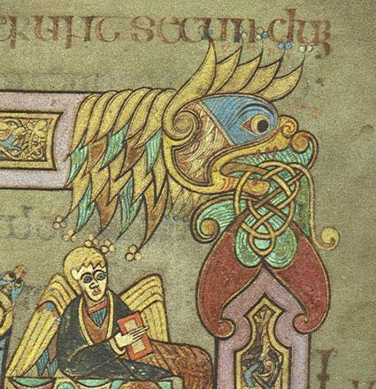 Image Detail from Gospel of Luke, Book of Kells