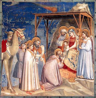 """""""La adoración de los Reyes Magos"""" - Giotto (1304-1306)"""