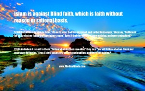blind faith quran