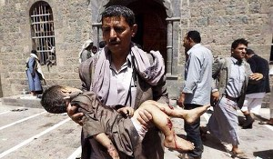 Yemen child killed by Saudi strikes