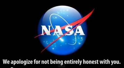 We apologize for not being entirely honest with you exposing nasa meme