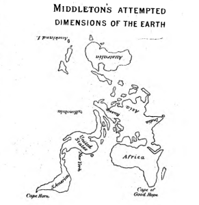Middleton's attempted dimensions of the earth The Earth vol. III no. 27-28