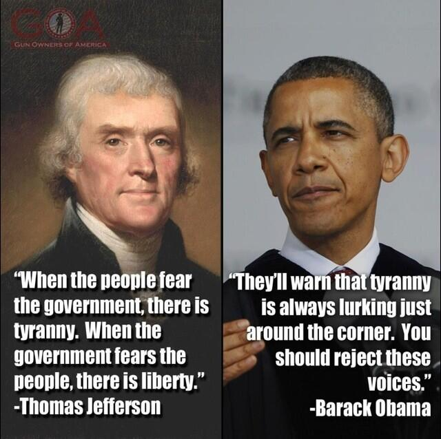 Thomas Jefferson Barrack Obama #MarchAgainstTyranny quote