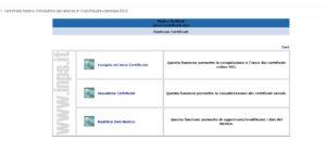 INPS, pagina di accesso alla compilazione dei certificati su modello SS3