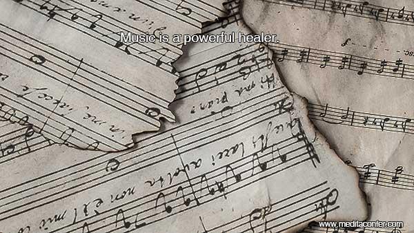 La música trae sanación.