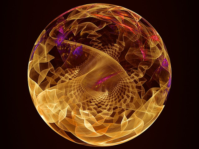 Golden fractal sphere