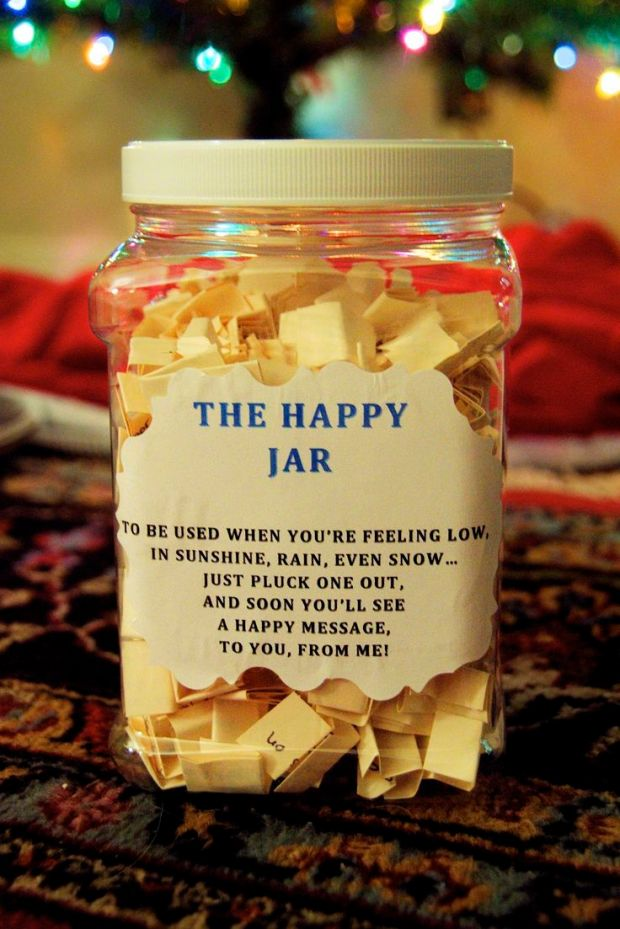 Meditation Gifts DIY Happy Jar