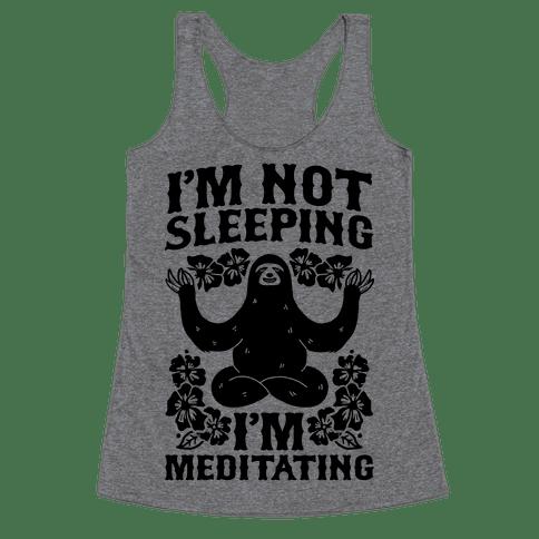 Meditation gift ideas sloth meditating