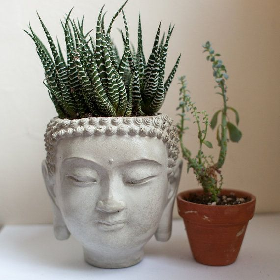 Zen On Buddha Plant Head Pot