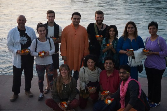 Meditation Teacher Training Satyam Shivam Sundaram Meditation School Rishikesh Goa India Meditation Teacher Shiva Girish Ganga Pooja Evening Prayer Ram Jhula