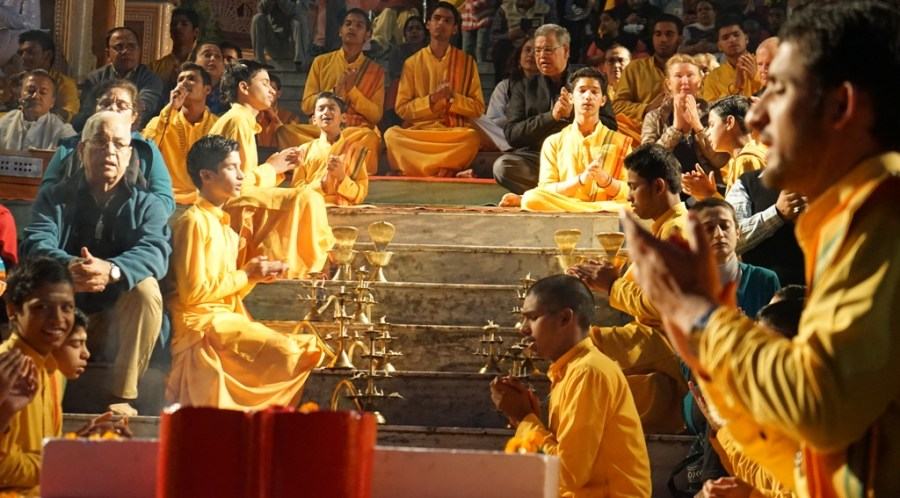 Evening Ganga Aarti At Parmarth Niketan ashram Rishikesh Uttarakhand