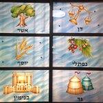 12 שבטים חלונות ויטראז בהתזת חול