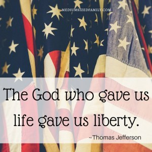 The God who gave us life gave us liberty.