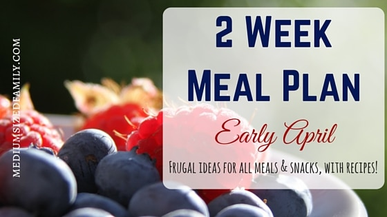 2 Week Meal Plan for Early April