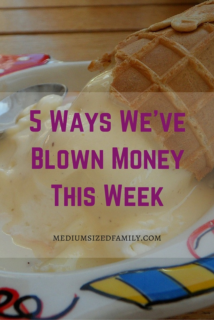 5 Ways We've Blown Money This Week. We've had a great year of spending little and saving a lot of money. But this week didn't go so well. Check out what went wrong and what you can learn from periods of blowing money.