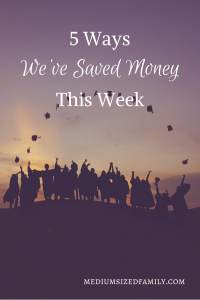 5 Ways We've Saved Money This Week: Another week of money saving tips that are helping this family pay off debt. Their #yearofno is changing the way they spend money and making a debt free life a closer reality every day.