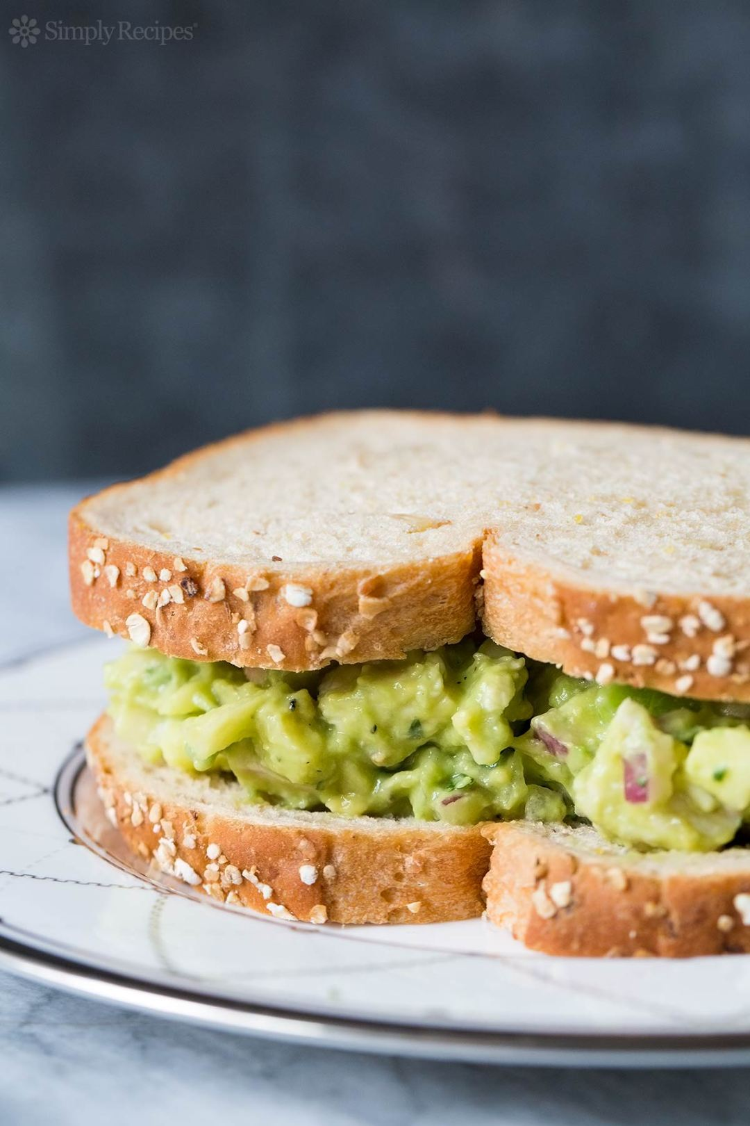 Avocado Chicken Salad. Find this and more delicious summer potluck recipes here.