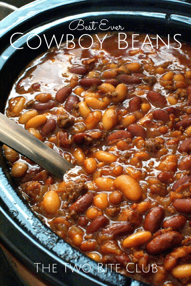 Cowboy Beans. Find this recipe and more ideas perfect for your summer potluck here.