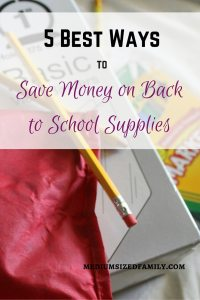 5 Best Ways to Save Money on Back to School Supplies. Looking for great ideas for saving on school supplies? These tips will help you save money.