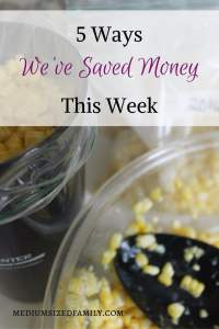 5 Ways We've Saved Money This Week 46. Get money saving ideas every Friday.