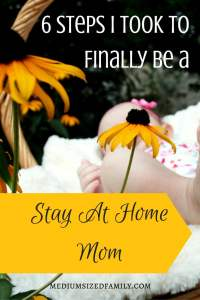 I always dreamed of being a stay at home mom. I sat at work and cried, because I couldn't figure out how to stay home with my baby. After a lot of thought, we came up with a plan. It's worked for years, and it will work for you, too! Here's how we did it.