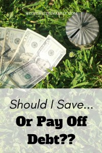 Save or pay off debt? That's the big question, but this answer makes me think I can do both.