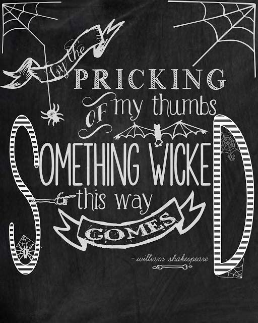 Halloween printable quote