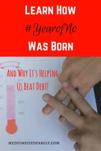 Learn how #yearofno was born, and why it's helping us pay off debt! This family has used a motto all year to help them dig out of debt. And it's working!