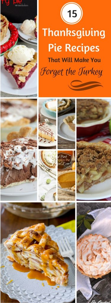 Looking for Thanksgiving pies? Here's a whole list of awesome Thanksgiving pie recipes. There are traditional recipes, but also some new ideas if you want to make a recipe your own.