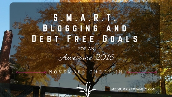 My S.M.A.R.T. Blogging & Debt Free Goals: November Check In