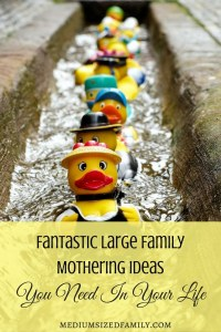 Ever wonder how moms handle all of those kids? Learn some tricks from large family mothering.