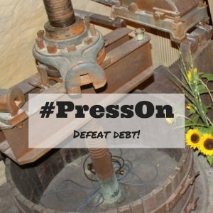 #PressOn The hashtag motto that will help us defeat debt this year.