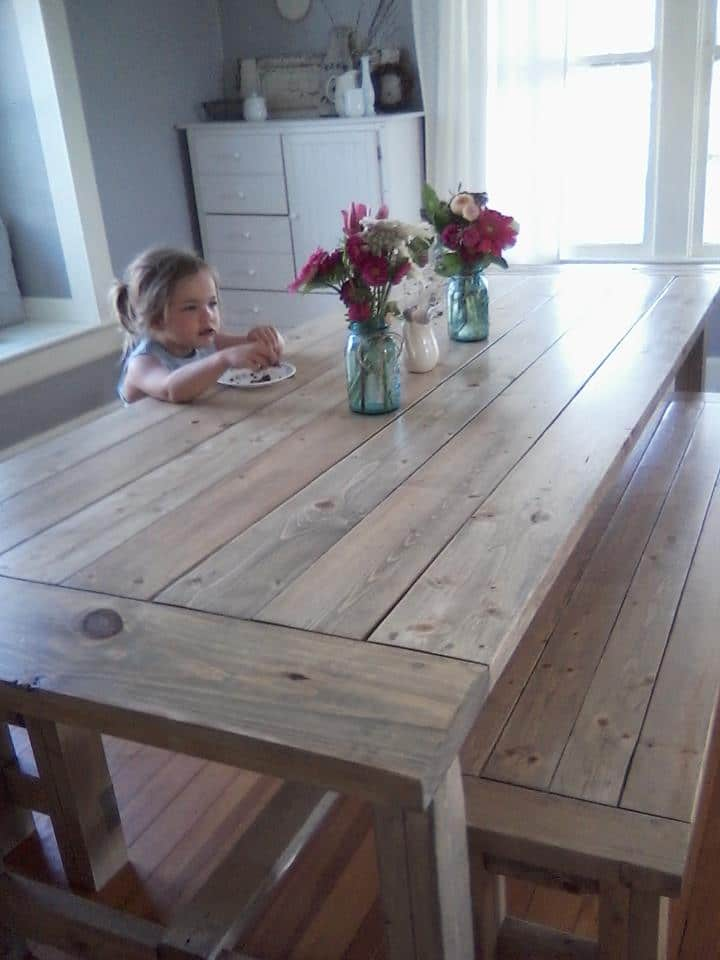 A farmhouse table - Perfect for a large family home!