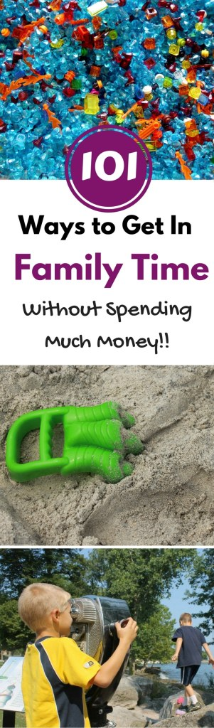 Need ideas for fun things to do as a family, but don't have a lot of money to spend? Get 101 cheap ideas (many are even free!) for a ton of fun.