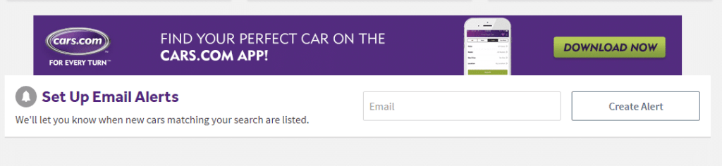 cars email alerts